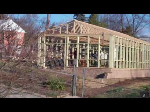 Greenhouse-Polycarbonate and glass greenhouse construction 1-12