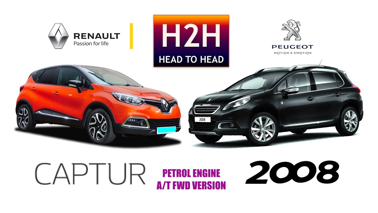 h2h 99 renault captur vs peugeot 2008 youtube. Black Bedroom Furniture Sets. Home Design Ideas