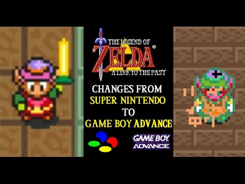 Zelda A Link to the Past: Changes from SNES to GBA (10th Anniversary Youtube Remake)
