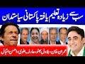 Highly Educated Pakistani Politicians contested Election 2018 |Bilawal|Imran Khan|Hina Rabbani|PTI
