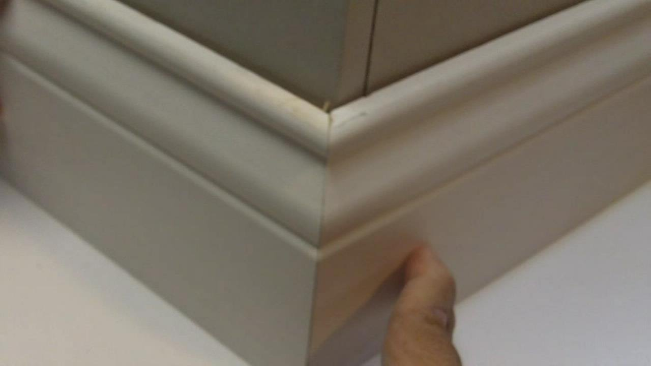 chair rail corners without coping fabric outside chairs install perfect baseboard easy math trick youtube