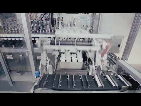IWK - Flexible Tube Filling Line - Tube Unloader TZ / In-Line Checkweighing / Tube Filler FP 64-2