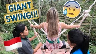 FORCED HER TO RIDE THE GIANT SWING IN BALI (A LOT OF SCREAMING)