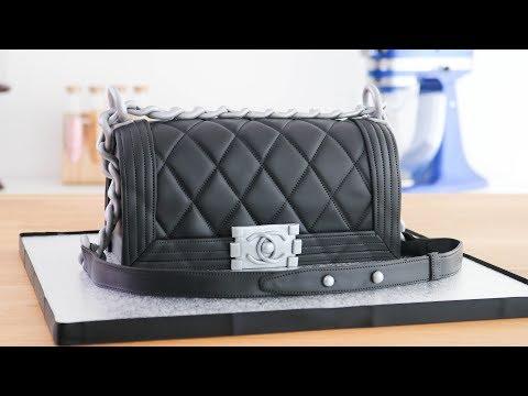 Cartera / Bolso Chanel Boy - Torta / pastel decorado ☆ Tan Dulce