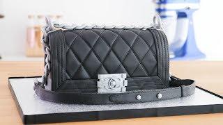 cartera bolso chanel boy torta pastel decorado ☆ tan dulce