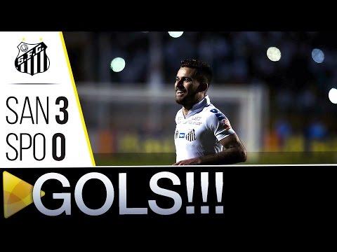 Santos 3 x 0 São Paulo | GOLS | Brasileirão (26/06/16)