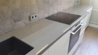 Столешница на кухню г-образной формы. Обзор работы