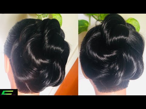 How To Create A Natural Updo Hairstyle For Brides/Wedding || Bridal Updo For Natural Hair