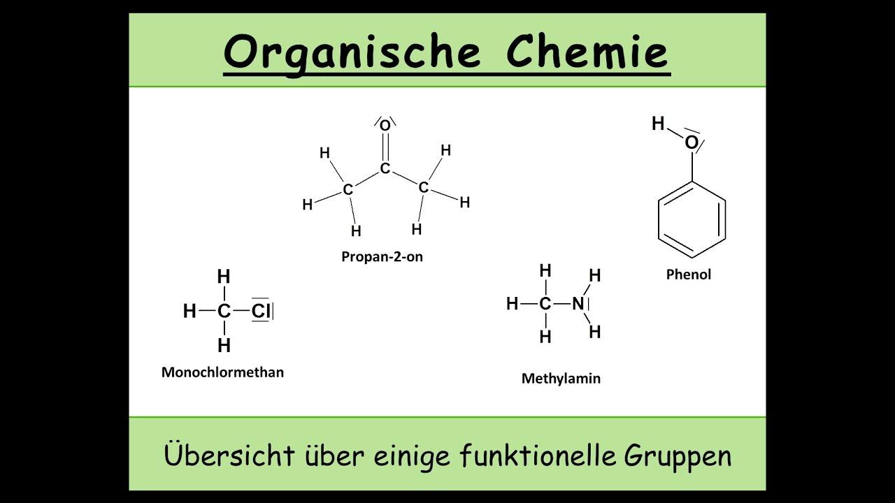 Funktionelle Gruppen In Der Organischen Chemie Eine übersicht über Einige Funktionellen Gruppen 4