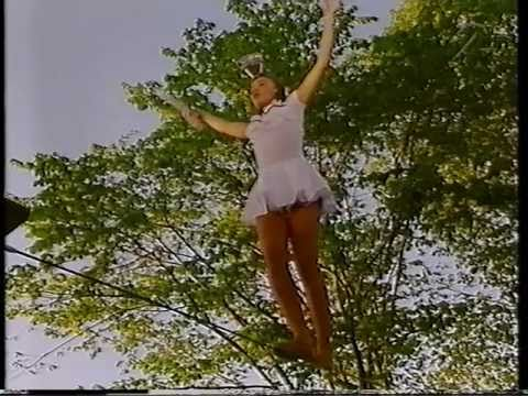 Woman on high wire
