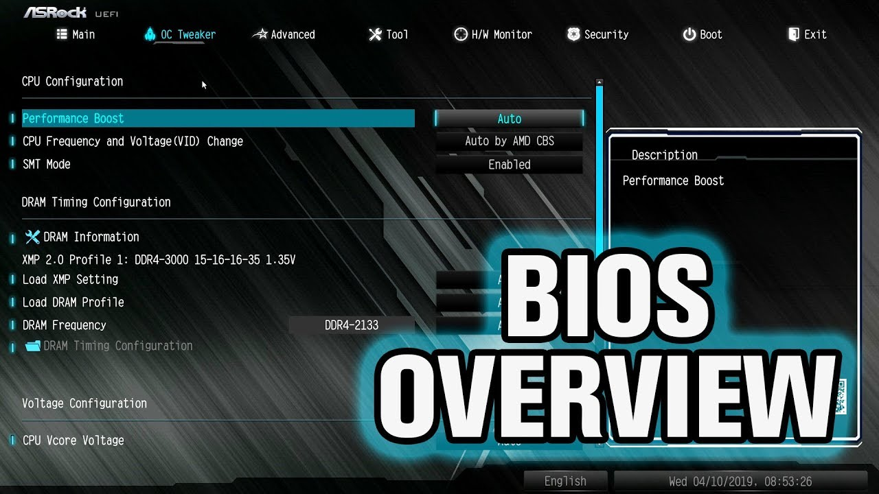ASRock B450 Steel Legend BIOS Overview