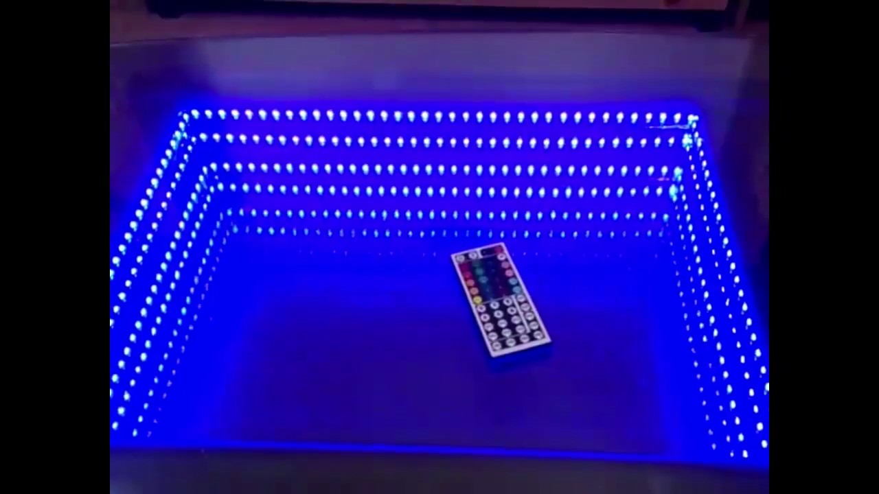 Glastisch Led Wohnzimmertisch Led Spiegel Unendliche Illusion Table Mirror Led Infinity Illusion
