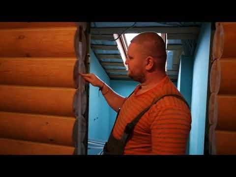 Обсада/окосячка в деревянном доме или избе & ПРИКОЛ🤣🤣🤣🤣Установка дверей