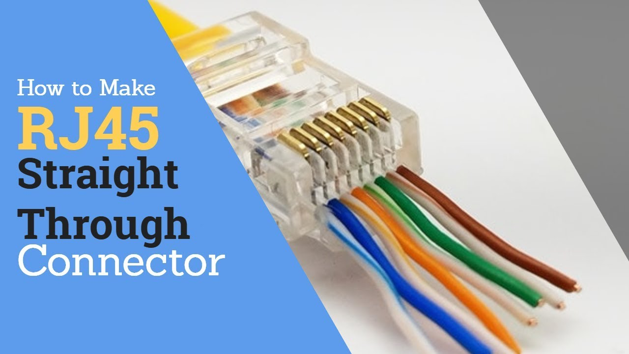 hight resolution of how to make rj45 straight through connector cat5e youtube rj45 straight through cat5e wiring