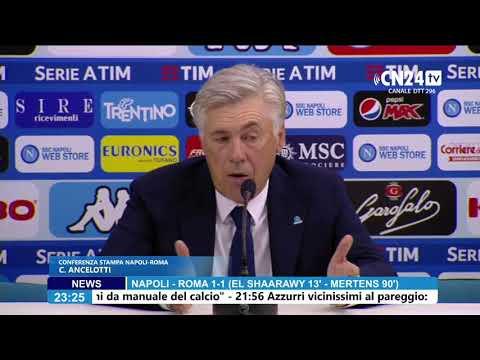 Napoli-Roma 1-1, la conferenza post-partita di Ancelotti