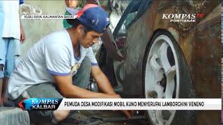 Pemuda Desa Modifikasi Mobil Kuno Menyerupai Lamborghini Veneno