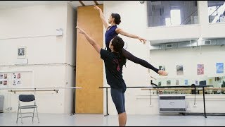 Manon: Erina Takahashi and Jeffrey Cirio in rehearsals | English National Ballet
