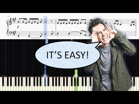 Panic! At The Disco - Say Amen (Saturday Night) - EASY Piano Tutorial + SHEETS
