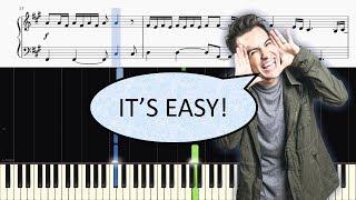 Panic! At The Disco - Say Amen (Saturday Night) - EASY Piano Tutorial