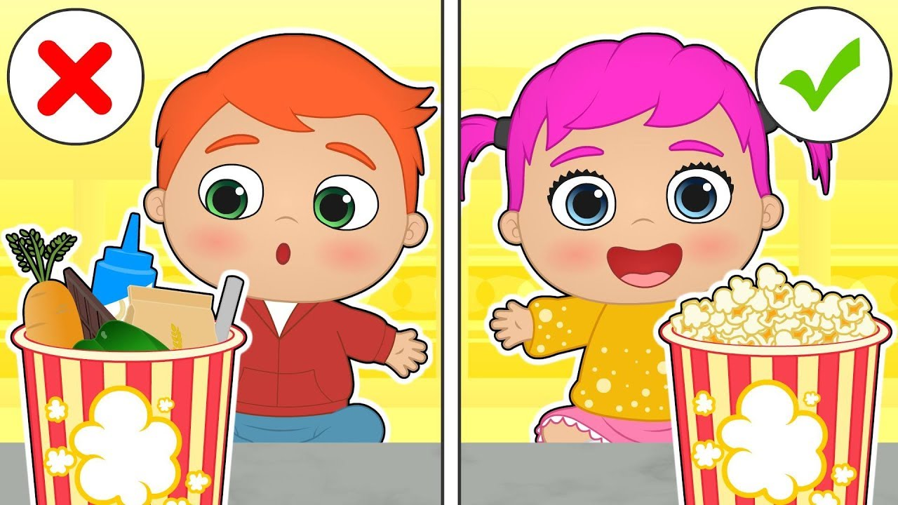 baby-alex-and-lily-make-popcorn-to-watch-film-educational-cartoons