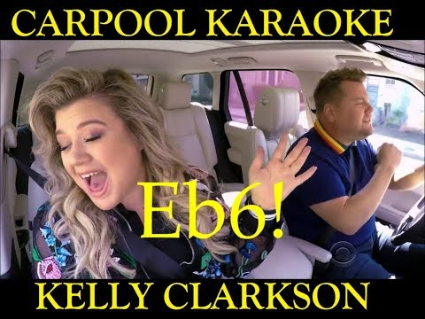 KELLY CLARKSON - Carpool Karaoke Vocal Range (E3-F#5-Eb6)