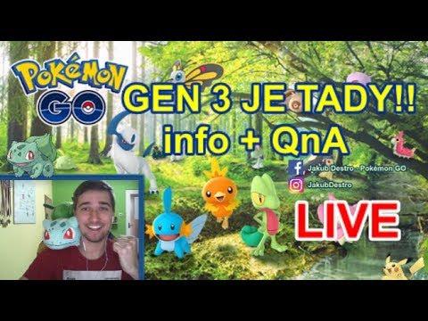 Pokémon GO 3 GEN Live Stream - Info, chytání + QnA!!