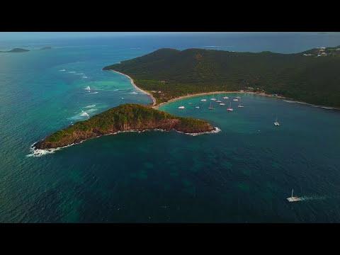 Mayreau Island in Saint Vincent and Grenadines. Mavic pro 4K