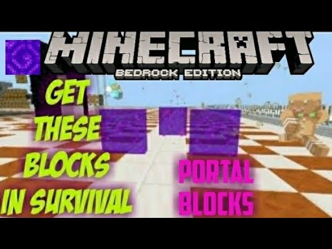 NETHER PORTAL BLOCK Farm On [ Survival ] Mcpe Xbox Pc Switch Ps4  STILL WORKS!