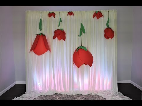 Upside Down Baby Shower Paper Flower Backdrop DIY | How To