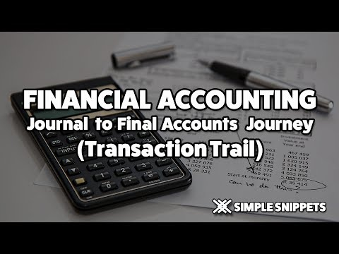 Journal to Final Accounts | Transaction trail with Example