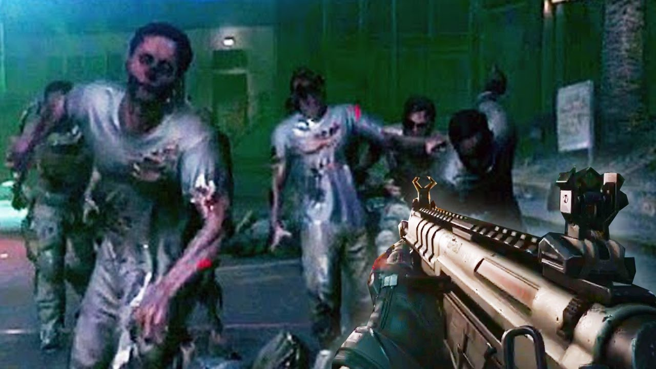 Call Of Duty Advanced Warfare Zombies Gameplay Riot Zombies Exo Survival Bonus Wave Youtube
