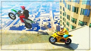 GTA 5 Funny Moments - Insane Skyscraper Parkour Stunts Glitch (GTA 5 Online Funny Moments Gameplay)