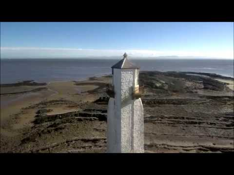 Aerial views of Southerness and Rockcliffe on the Solway Firth SW Scotland