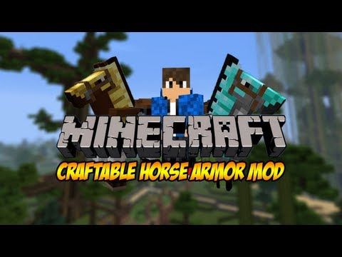 how to put armor on horse in minecraft