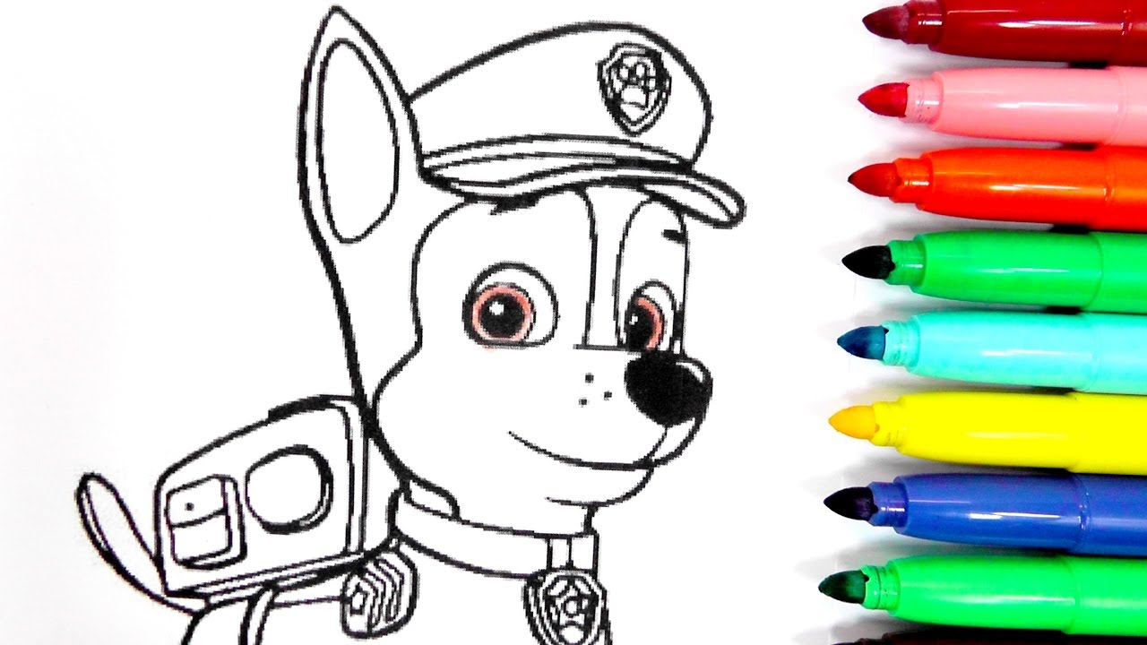Magic Scratch Para Colorear A Chase De La Patrulla Canina Con El