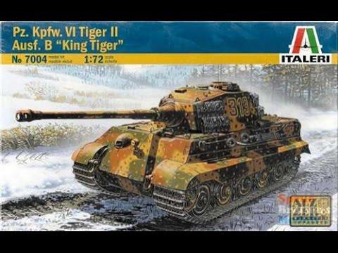 182 King Tiger Tank//72 Italeri Kit 7004 Sd Kfz