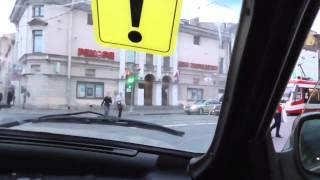 Урок авто вождения по горочкам в любимом городе.