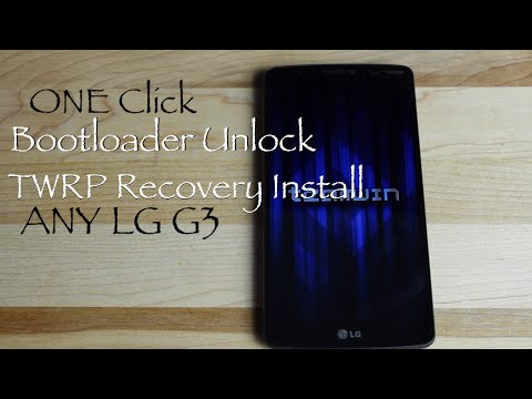 LG G3 One Click Bootloader Unlock and TWRP Recovery Install