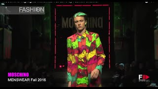 MOSCHINO Highlights Menswear Fall 2016 by Fashion Channel