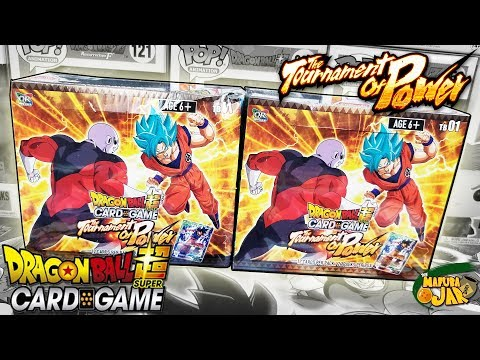 WHAT A PULL!! OPENING 2 DRAGON BALL SUPER TOURNAMENT OF POWER BOOSTER BOXES!!!