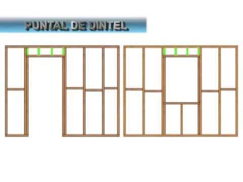 Componentes estructurales de un tabique youtube - Tabiques de madera ...