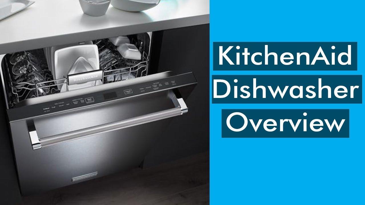 KitchenAid KDTE234GPS Dishwasher Overview - YouTube