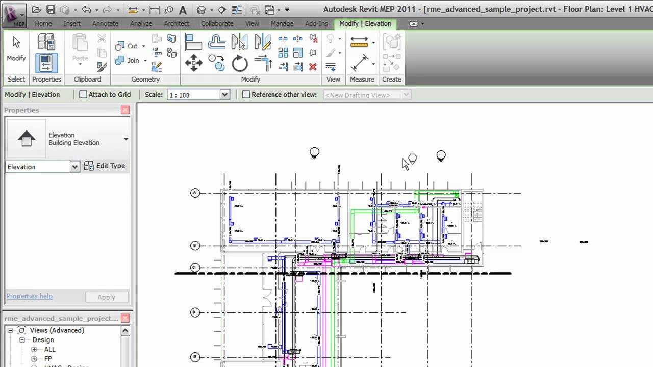 Create Elevation Plan In Revit : Autodesk revit creating elevation views youtube