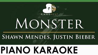 Download Shawn Mendes, Justin Bieber - Monster - LOWER Key (Piano Karaoke Instrumental)