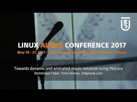Towards dynamic and animated music notation using INScore - Dominique Fober