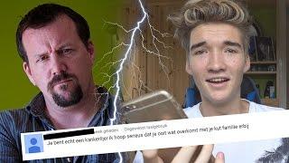 ouders van hater bellen zijn vader wordt boos op mij