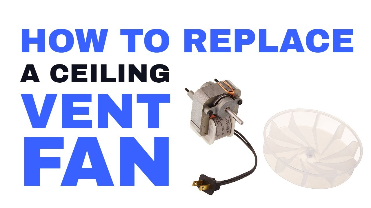 How to Replace Broan Bathroom Vent Fan Exhaust Motor without Attic Access  sc 1 st  YouTube & How to Replace Broan Bathroom Vent Fan Exhaust Motor without Attic ...