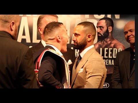 INTENSE! - JOSH WARRINGTON v KID GALAHAD HEAD TO HEAD @ PRESS CONFERENCE / JUNE 15th 2019