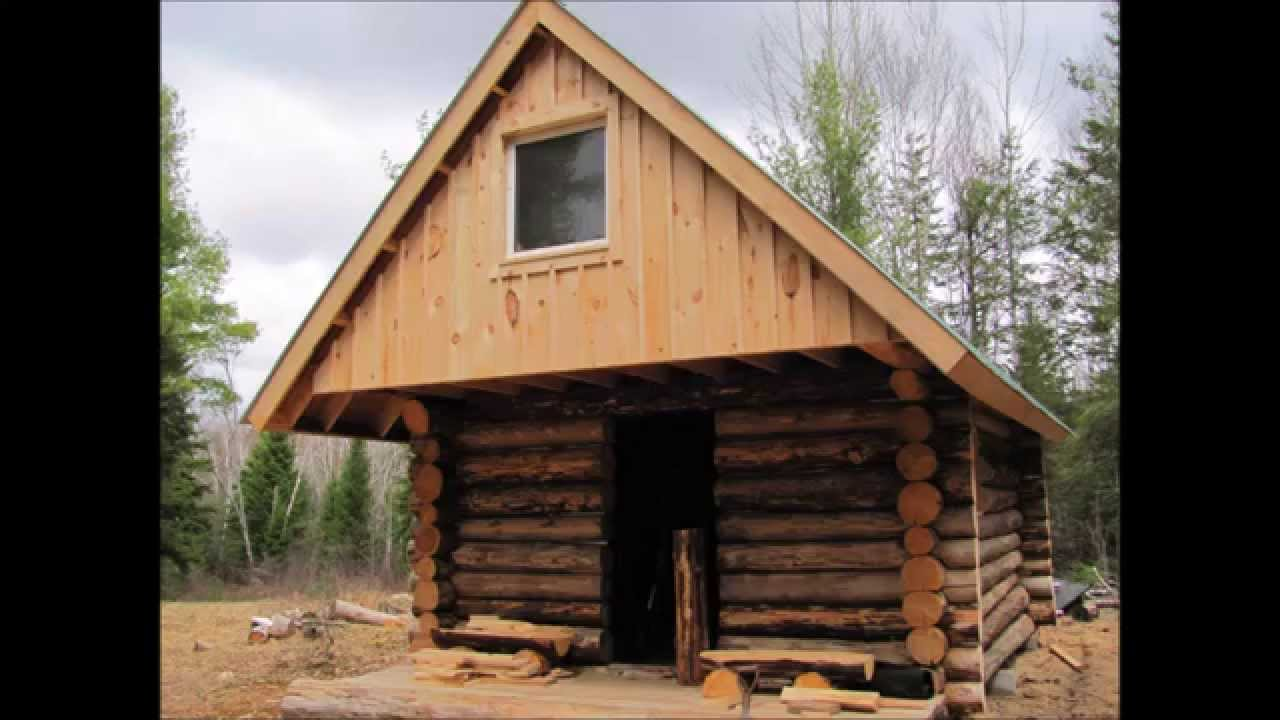 How we built our small log cabin youtube for Small log cabin pictures