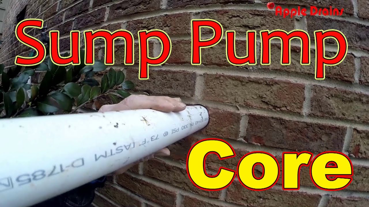 Sump Pump Discharge Pipe Youtube